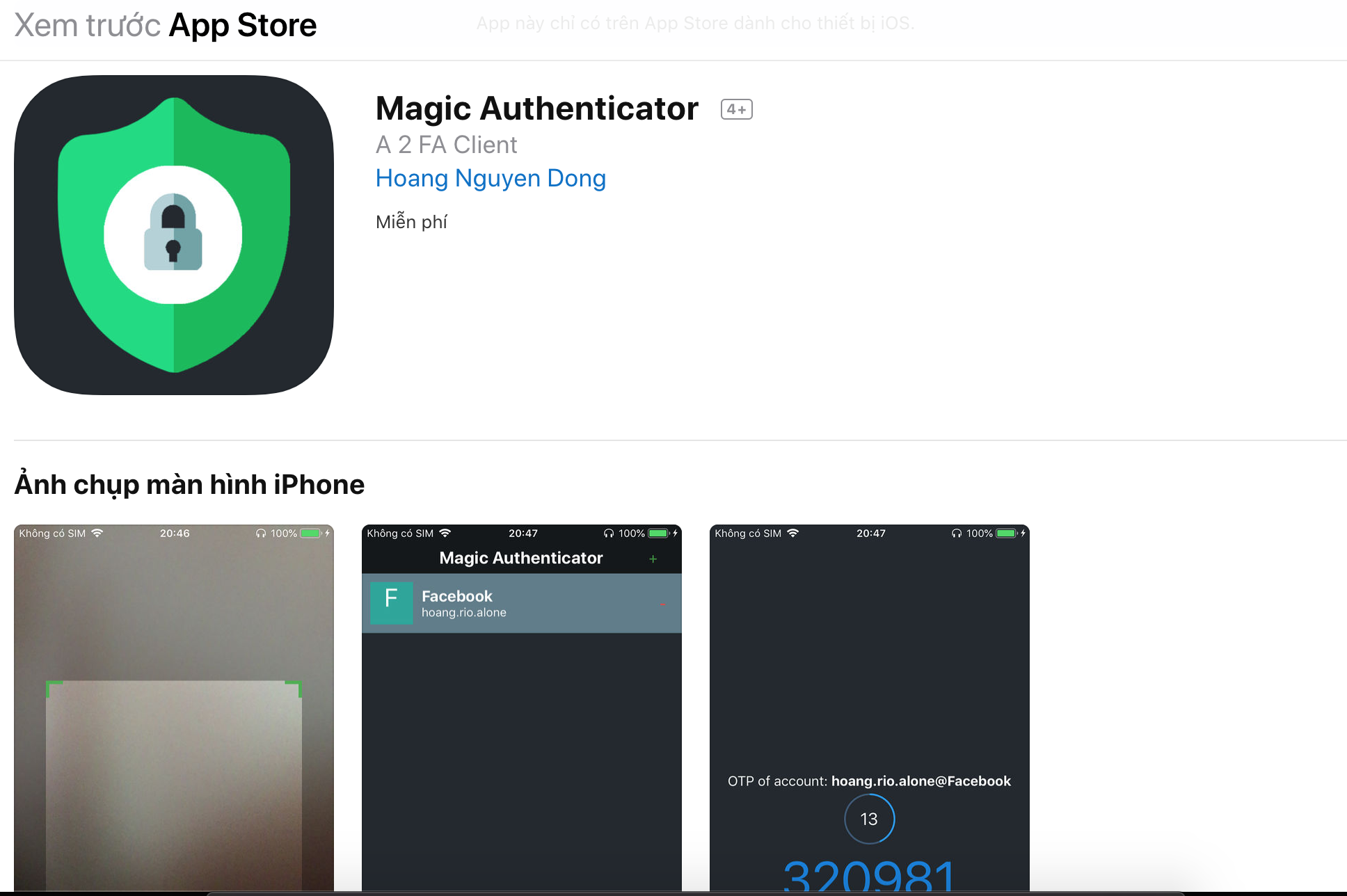 iOS Magic Authentication
